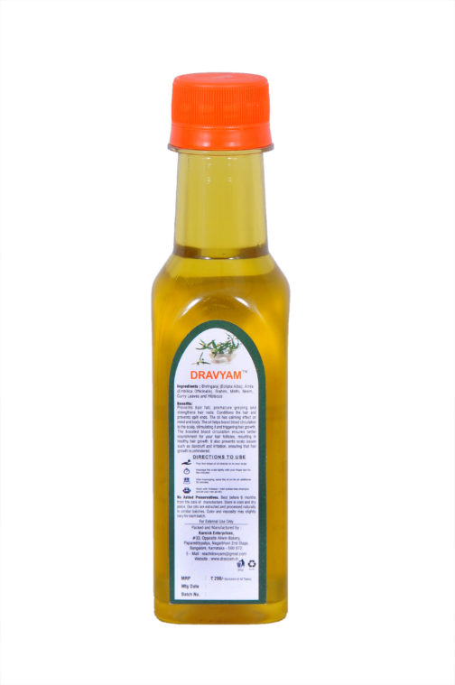 dravyam bhringaraj hair oil 200ml back scaled