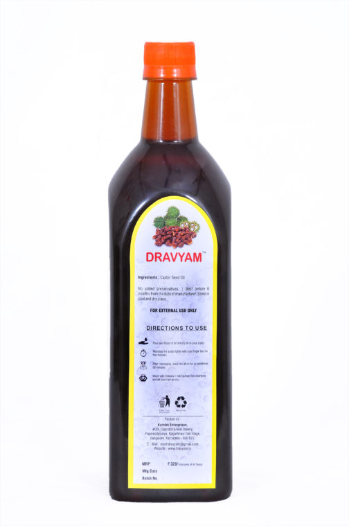 dravyam natural castor oil 1ltr back scaled