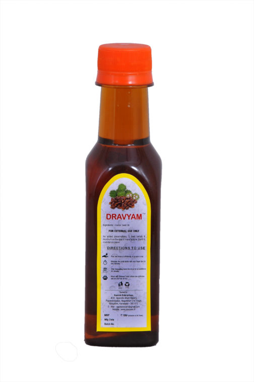 dravyam natural castor oil 200ml back scaled