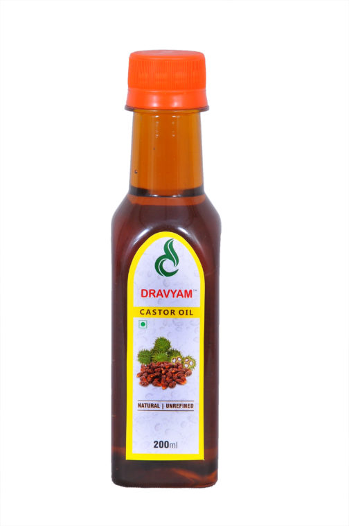 dravyam natural castor oil 200ml front scaled