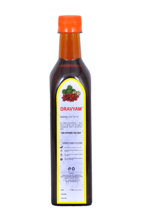 dravyam natural castor oil 500ml back scaled