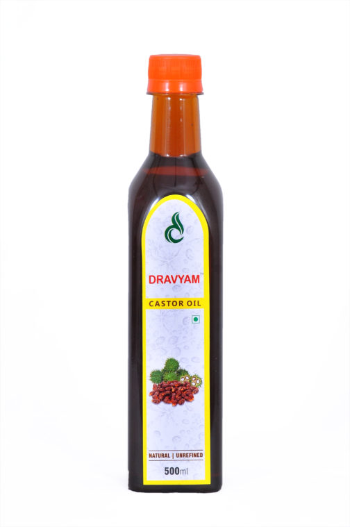 dravyam natural castor oil 500ml front scaled